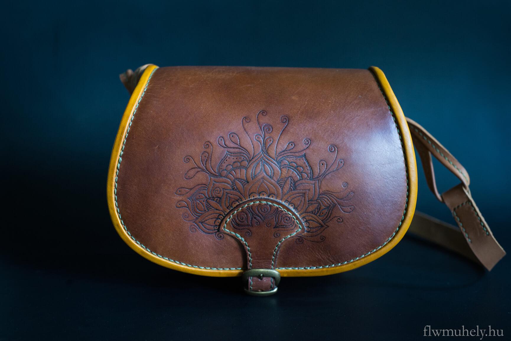Mandala bőrtáska - Egyedi mintatervezéssel - flwmuhely 9188edc7de