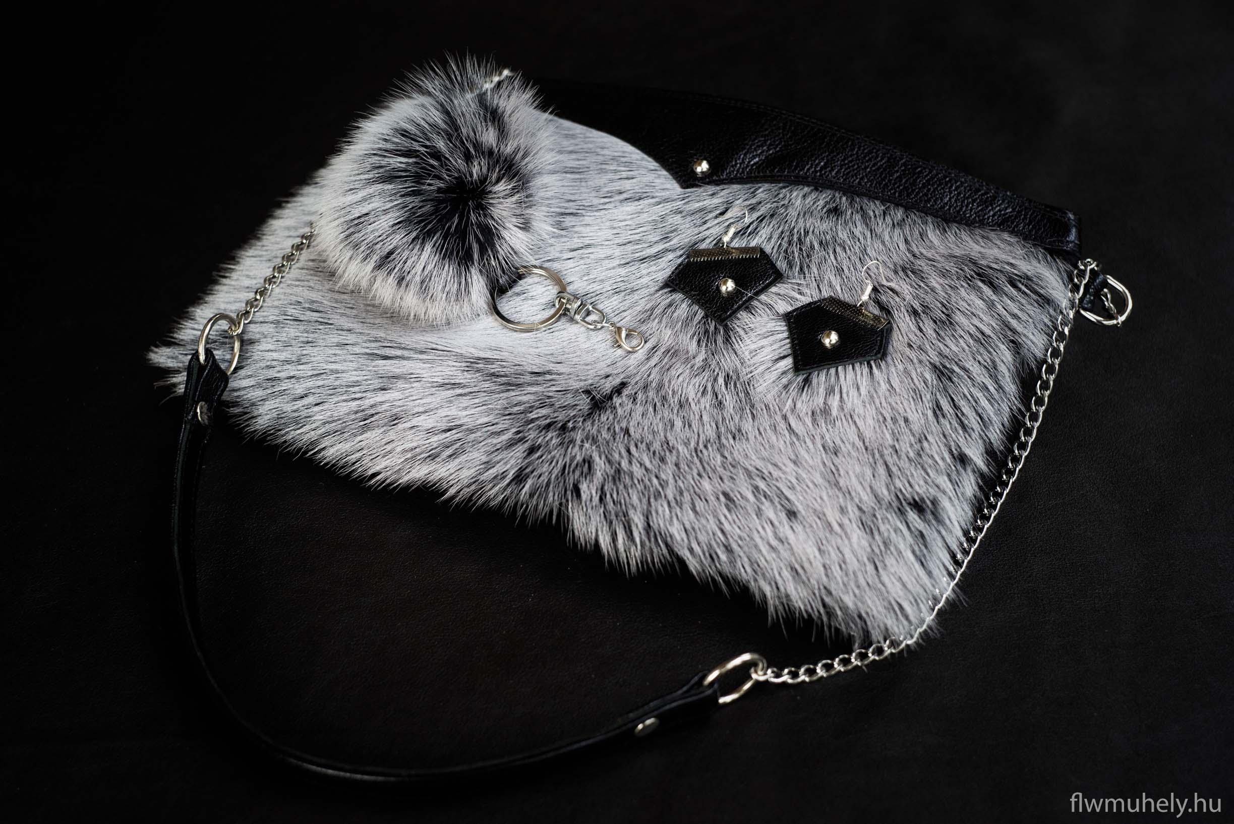 Szőrmés táska szett - szőrme táskadísz - flwmuhely c5466a20de